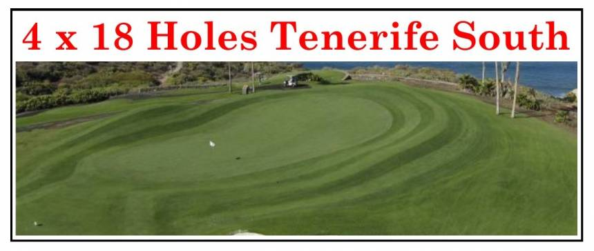 4 x 18 Holes Tenerife South